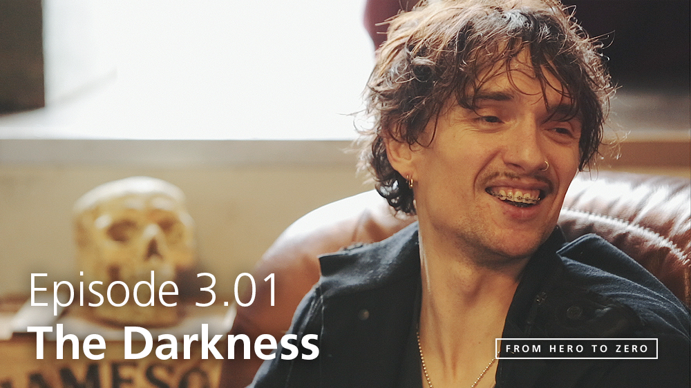 EPISODE 3.01: Justin Hawkins of The Darkness talks imperfect live albums, chart-eligible plays, and Starsky & Hutch
